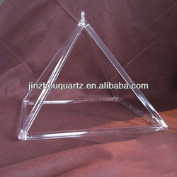 perfect appearance,superior sound quality crystal pyramid for Sound therapy and healing