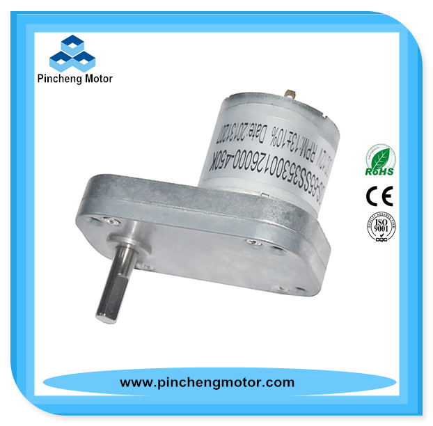 12V 90 degree right angle dc worm motor with flat gearbox for electric curtain/power tools