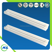 Residential/office/shopping mall lighting 1255*176*72MM T8 double tubes flourescent fixture