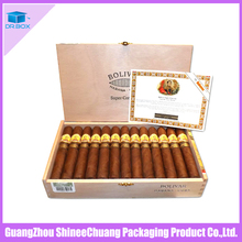 Wholesale handmade wood packaging cigar box/humidor/cigar case