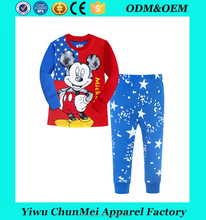 2017 boys long sleeve cotton pajamas kids sleeping wear children animal pajamas