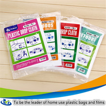 Factory direct china clear drop cloth painter car paint plastic film cover in alibaba