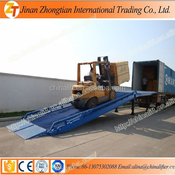 10% Discount off manual dock ramps mobile loading unloading yard ramp