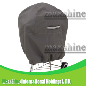 Veranda Patio Waterproof 26.5 Inch Diameter Gray Kettle BBQ Grill Cover