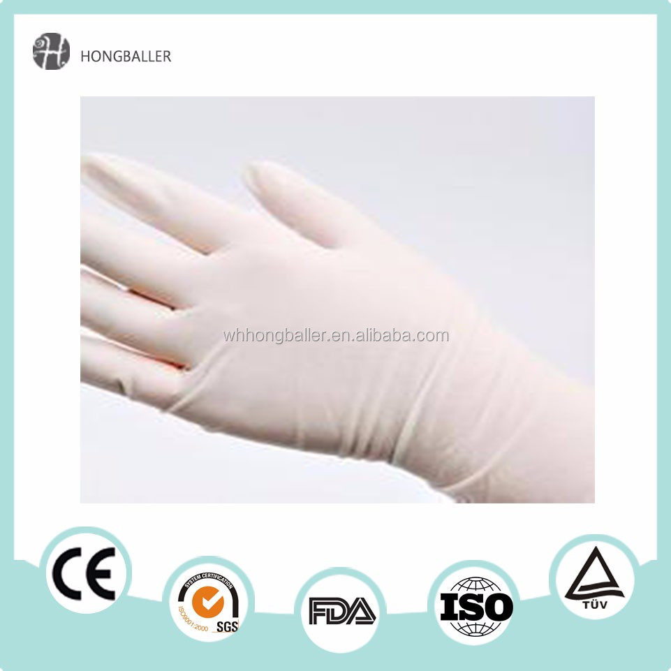 long sleeve rubber gloves