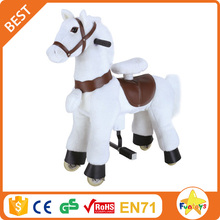 Funtoys CE children mechanical wooden walking horse for sale