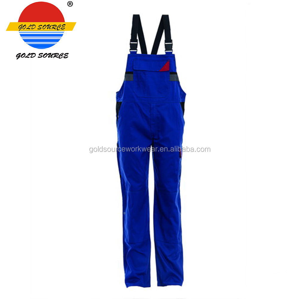OEM Custom Wear Resisting Twill Workwear Bib Trousers for Laborers Farmers Ranchers