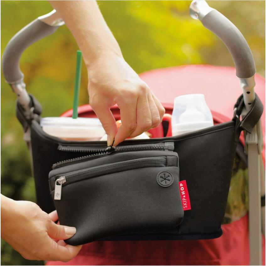 Factory made cheap price high quality baby stroller organizer bag