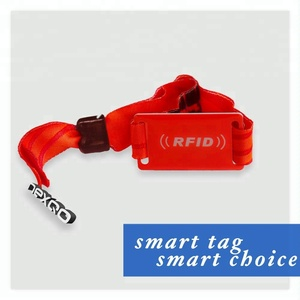 Custom printed RFID wrist band for cashless payment