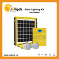 5W Portable solar kits with two super bright led lamp and 5W/9V panel with full power