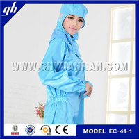 safety conductive carbon textile antistatic clothes/antistatic cleanroom clothes