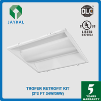 Direct Replace traditional fluorescent troffers easy installation 2x2ft 2x4ft LED troffer