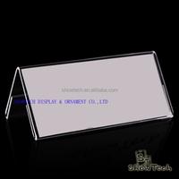 Custom design clear acrylic material acrylic table tent display holder/table sign card holder ST-VSH2010-02
