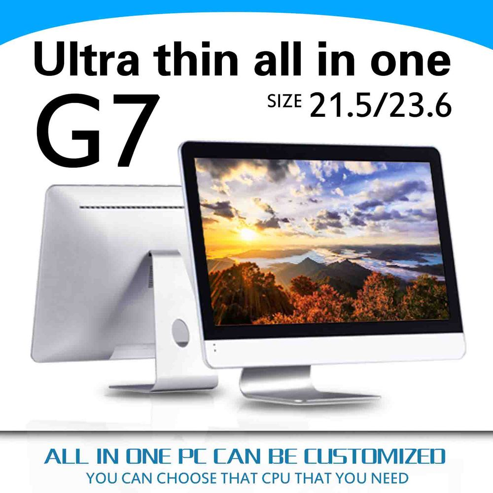 hot selling Support outdoor printer G7 21.5inch core i3 4130 Aluminum alloy shell all in one pc case all in one pc