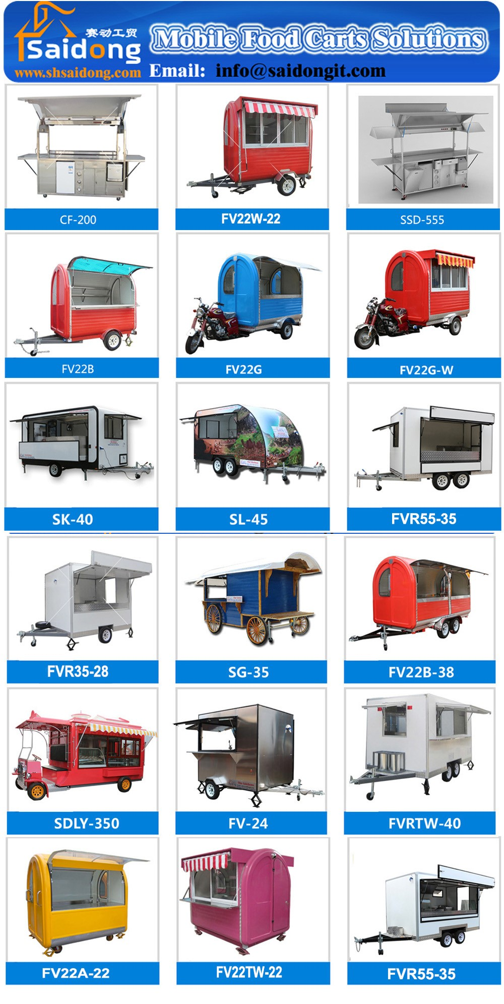 New Best Design mobile food vending trailer/mobile snack BBQ cart