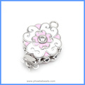 High Quality Enameled Flower 925 Sterling Silver Box Clasps For DIY Pearl Gemstone Necklace Bracelet Jewelry SC-BC217