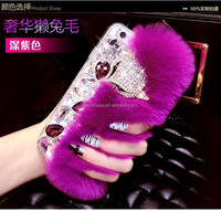 NEW 3D Luxury Winter Warm Rabbit Fur Case Back Cover 5/5s/6/ 6 Plus For iPhone