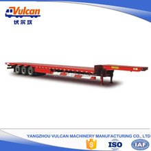 Gooseneck hydraulic flatbed semi horse trailer with certificate