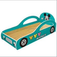 HL-09104 Free Loading Cheap Cartoon Car Bed Kids Sleeping Bed for Kingderfarten