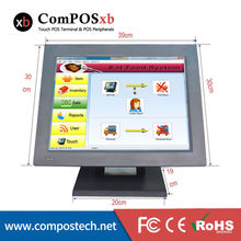 15 Inch Touch Screen Touch 2GB Memory 320HHG Hard Driver POS Machine POS in once Supermarket Cash Register POS System