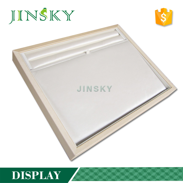 wholesale white leather wood pallet jewelry display tray