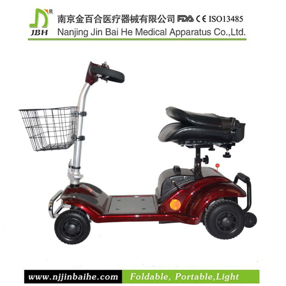 270W Folding disabled electric double seat mobility scooter
