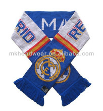Brazil World Cup Knitted Football Team Football Fan Scarf with Barca Team Logo