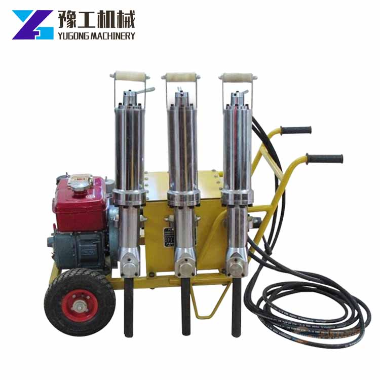 2017 New design good quality price hard rock drilling diesel engine hydraulic rock splitter
