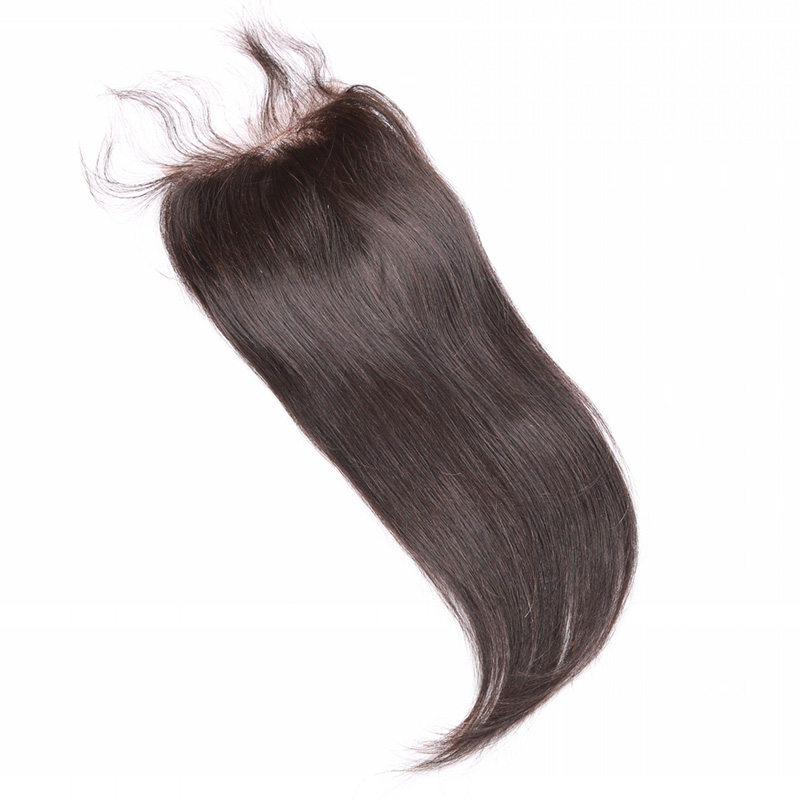 3.5*4 4*4 5*5 Malaysian Remy Lace Front Closure With Baby Hair 3 Part Silk base Lace Closure