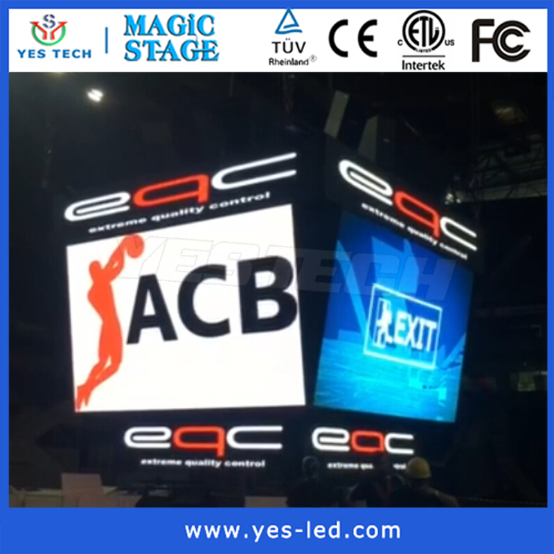 curve shapes stage 10mm smd indoor led screen