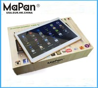 9.6inch MT6582 Quad Core 3G phone tablet Call Dual SIM Card GPS wifi tablet PC MaPan MX96