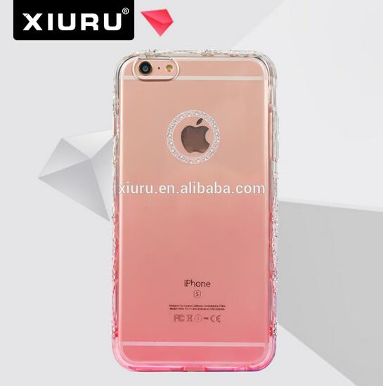 Colorful Diamond Transparent TPU Mobile Phone Case Fit For Iphone 6 Plus XR-PC-86-1