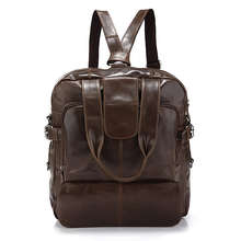 Hot Sales Products Real Leather Bag Chocolate Back Pack Messenger For Men # 7065Q