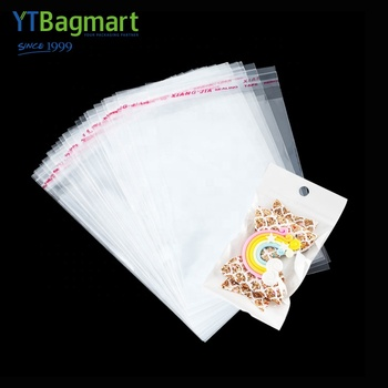 YTBagmart Custom Printed Food Grade Clear Plastic Side Gusset OPP Flat Poly Bag