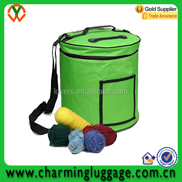 alibaba china factory high quality OEM green knitting tote bag