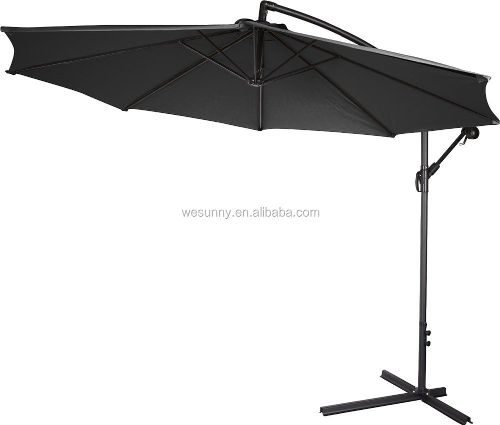 Outdoor aluminum Toscana Banana Hanging offset umbrella