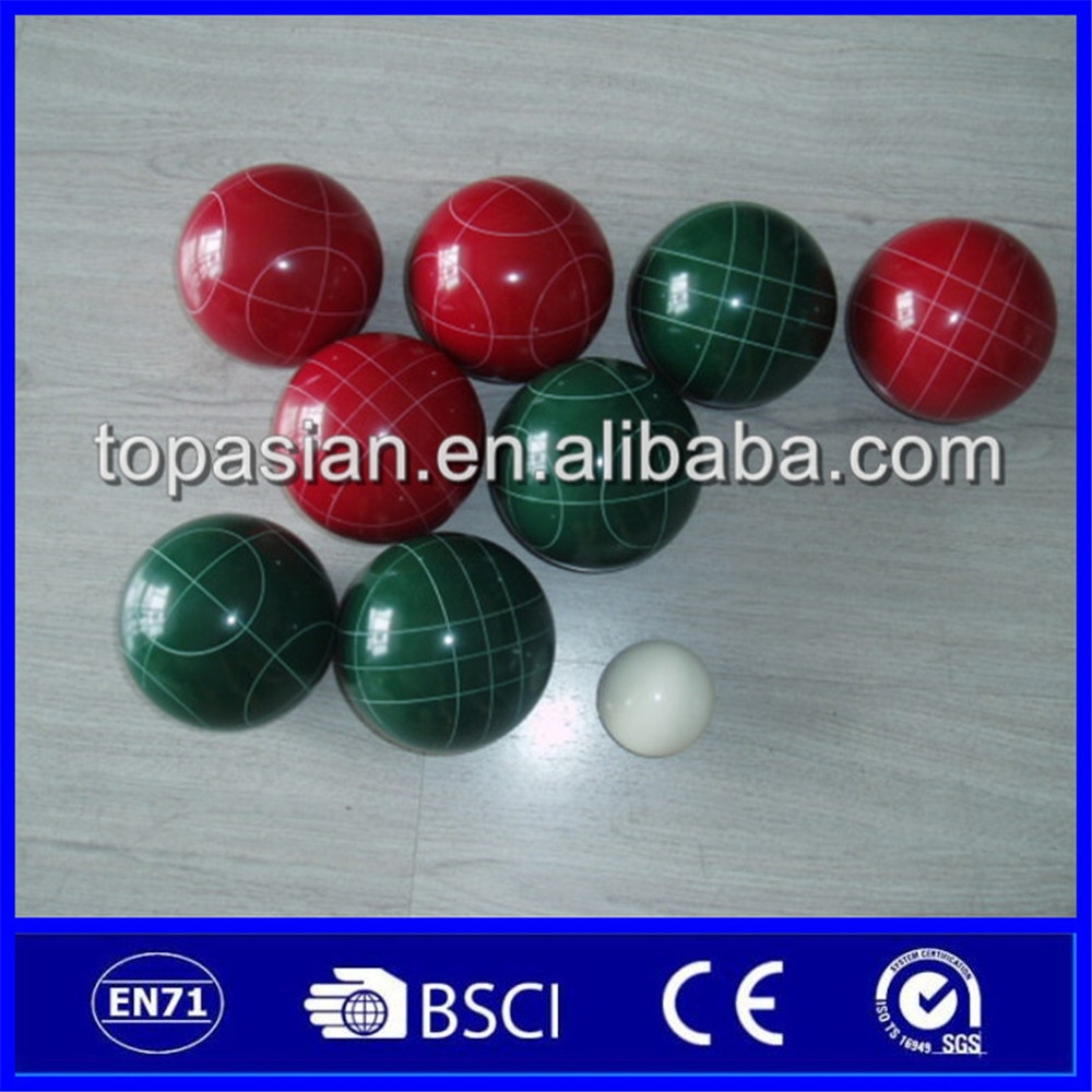 Wholesale french game resin petanque boules set