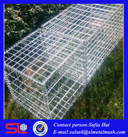 2016 gabion basket /retaining wall design/dimensions sizes for hot sale