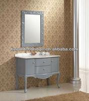 North ameircan classic design solid oak bathroom vanity wooden bathroom cabinets