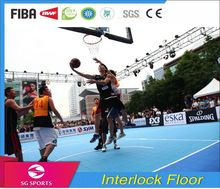 Interlock floor modular tiles Outdoor PP suspended basketball court Sports floor