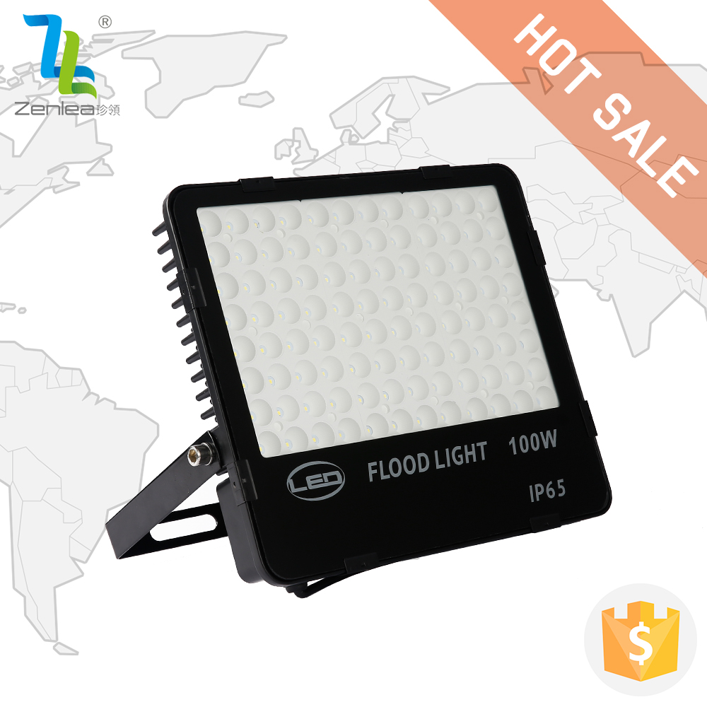 2017 New Mdoel ultra slim ip65 110lm/w high brightness 100 watt led outdoor floodlight