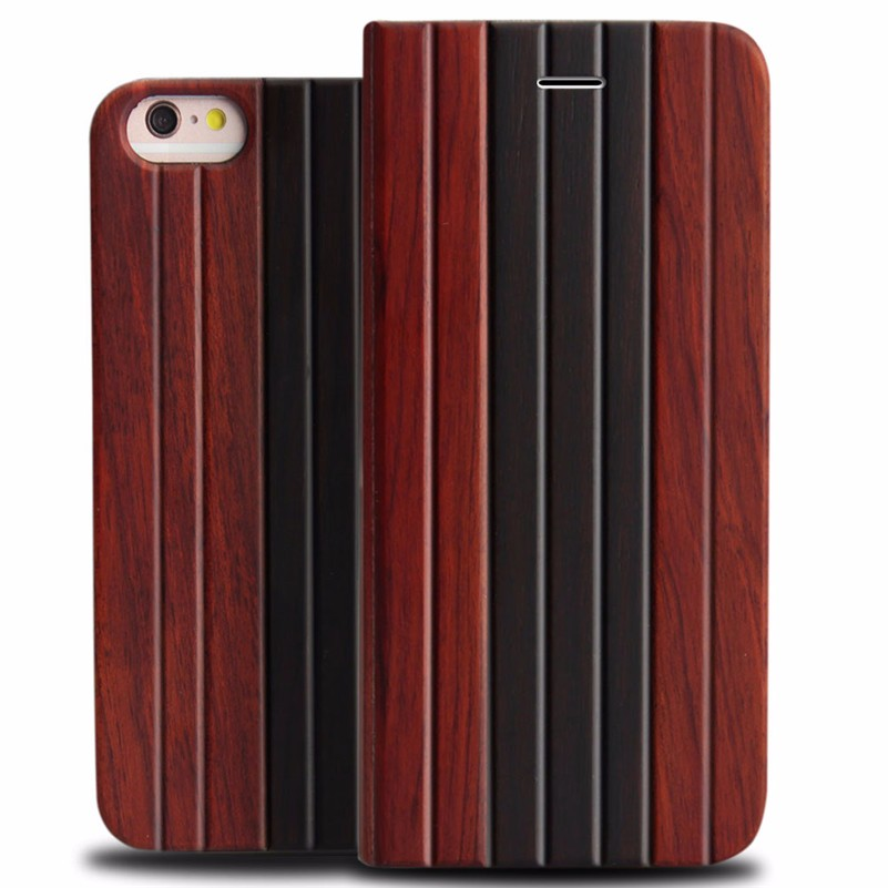 Wholesale Wallet Wood High Quality Phone <strong>Case</strong> For iphone 6