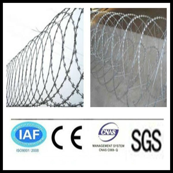 wholesale alibaba China CE&ISO certificated flat concertina razor barbed wire(pro manufacturer)