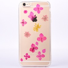High Quality Real Pressed Dried Flowers Soft Ultra-Thin TPU Phone Case For iPhone 8 Plus