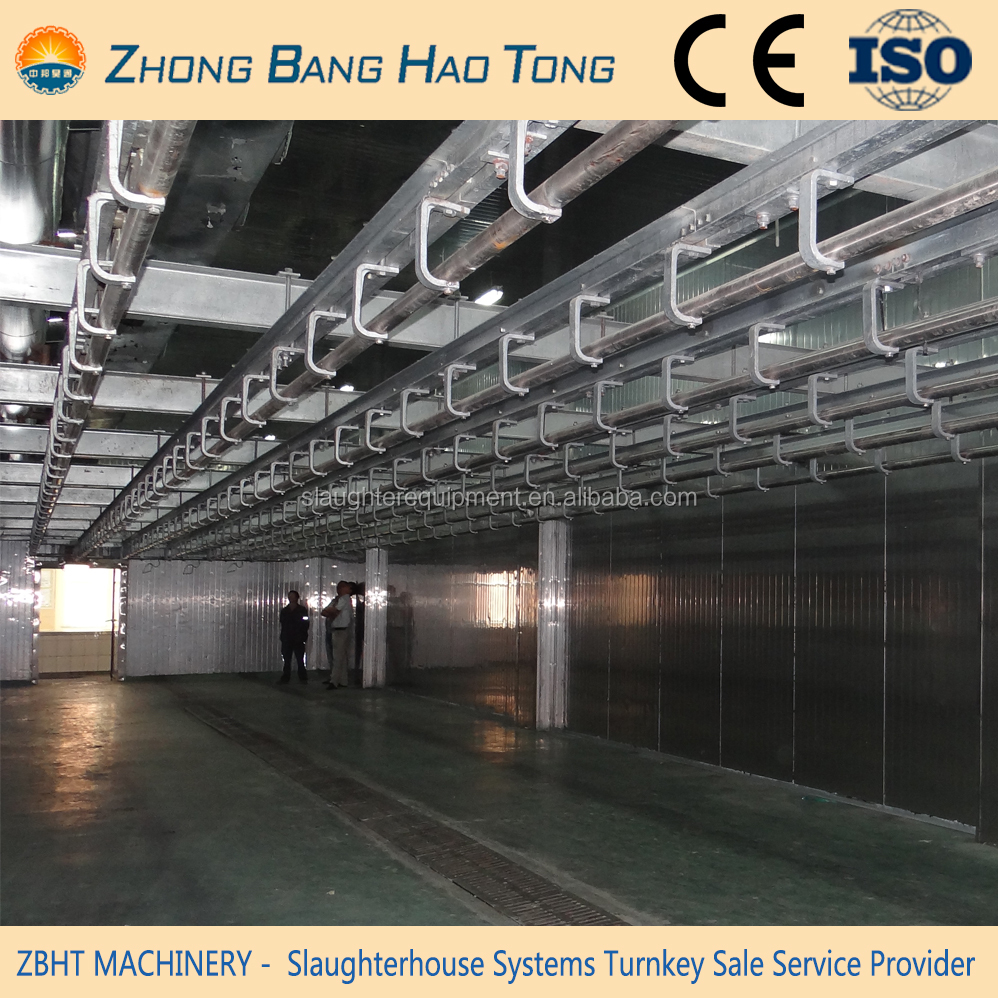 manual meat railing system for sheep slaughterhouse plant