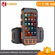 Touch screen handheld industrial pda laser barcode scanner with printer terminal phone accessories android OS
