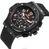 2015 new product silicone men chronograph watch mens hand watch