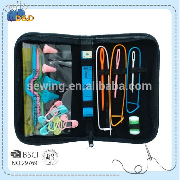 D&D soft PU leather knitting kit with crochet hooks knitting accessories