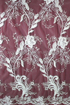 2015 fashion french embroidery lace chemical wide lace