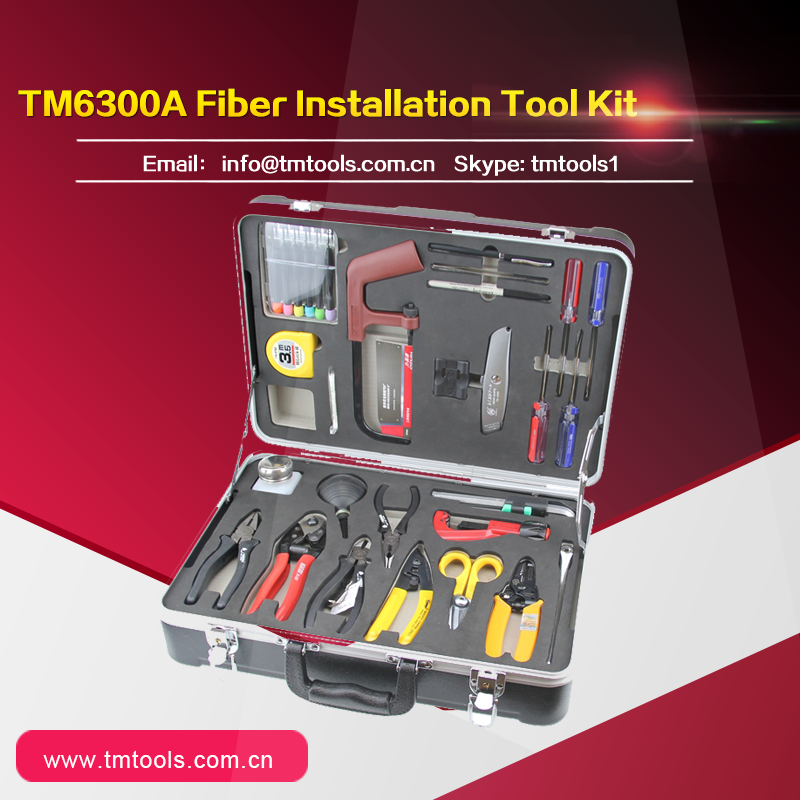 TM6300A Fiber Optic FTTH Assembly/Termination/Installation Tool Kit